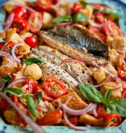 Baked Mackerel Spanish Style
